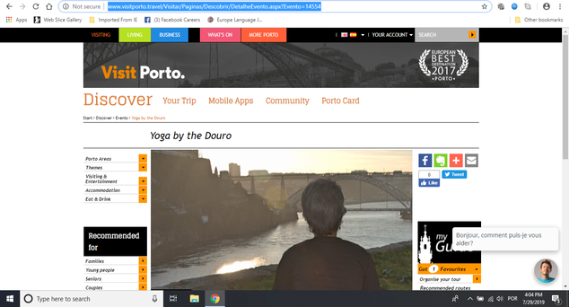 Yoga by the Douro featured by Porto Tourism Office on official website